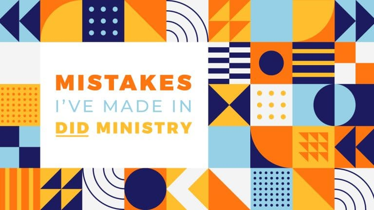 mistakes ive made in did ministry warner