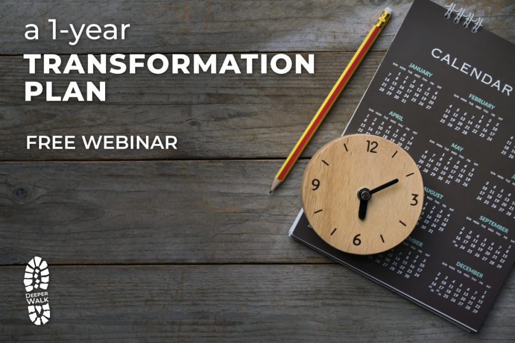 One-Year Transformation Plan with calendar and clock